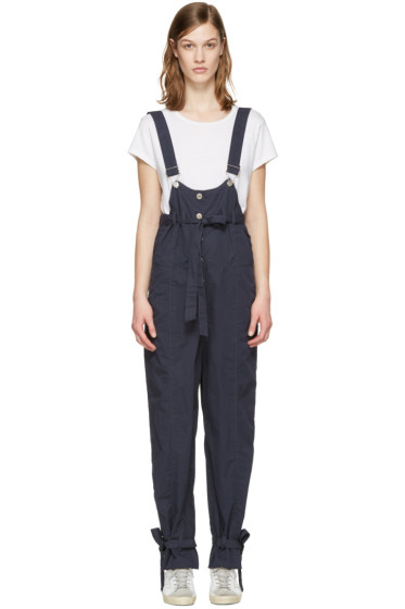 SJYP - Navy Strap Overalls