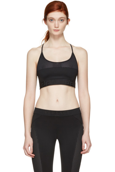 Versace Underwear - Black Mesh Sports Bra