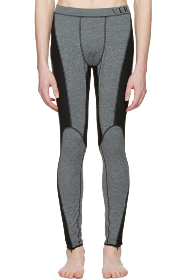 Versace Underwear - Grey Panelled Leggings