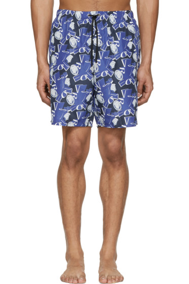 Versace Underwear - Blue Medusa Swim Shorts