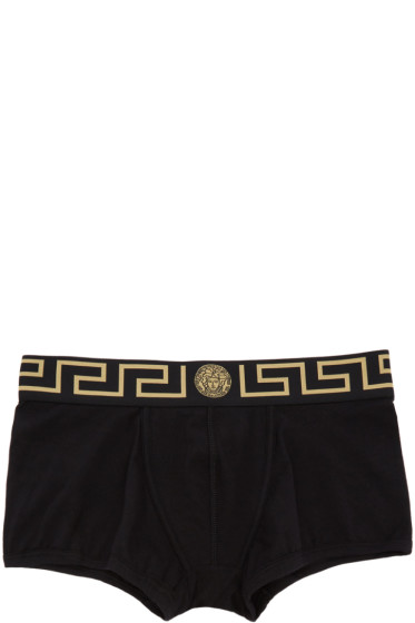 Versace Underwear - Two-Pack Black & White Boxer Briefs