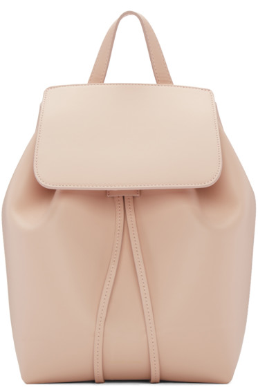 Mansur Gavriel - Pink Leather Mini Backpack