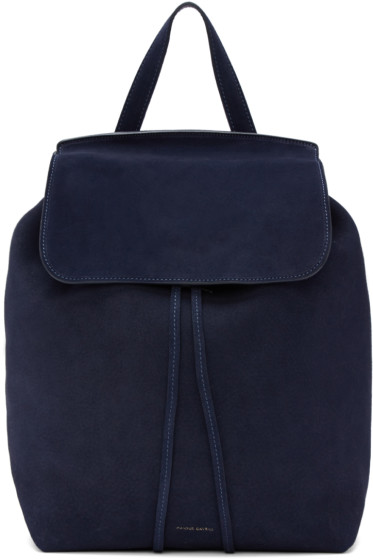 Mansur Gavriel - Navy Suede Backpack
