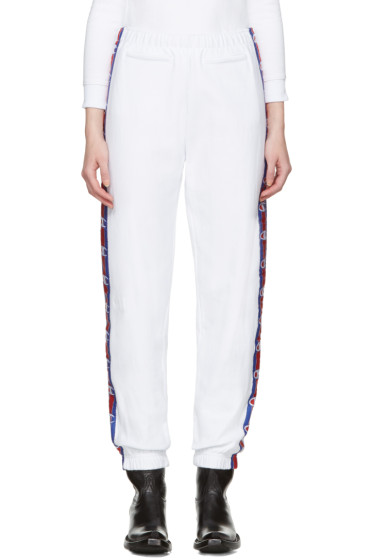 Vetements - White Champion Edition Knee Shape Lounge Pants