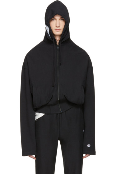 Vetements - Black Champion Edition Archive Hoodie