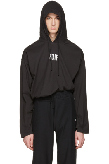 Vetements - Black Hanes Edition 'Staff ' Hoodie