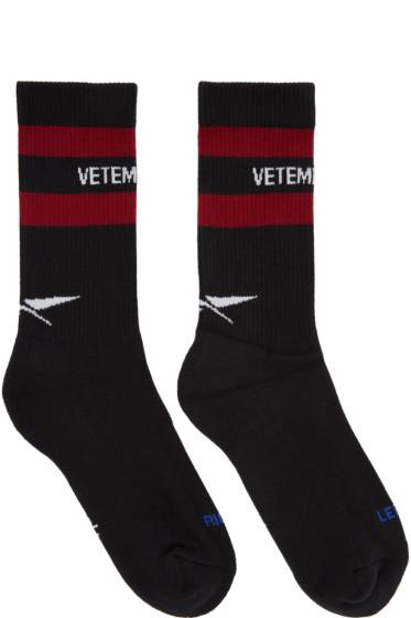 Vetements - Black Reebok Edition Classic Socks