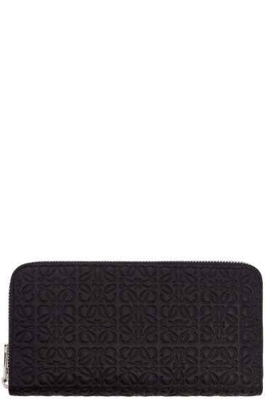 Loewe - Black Zip Around Anagram Wallet