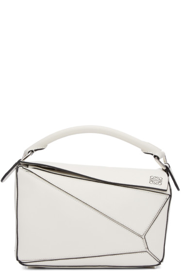 Loewe - White Small Puzzle Bag