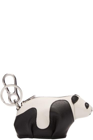 Loewe - Black & White Panda Keychain