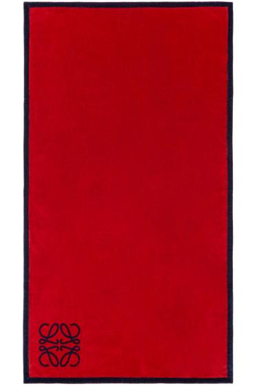 Loewe - Red & Navy Anagram Towel