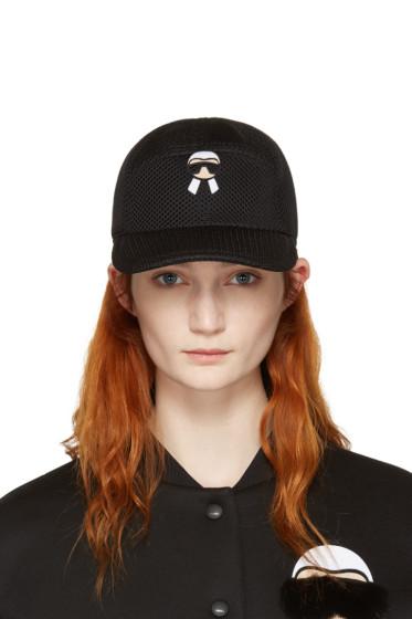 Fendi - Black Mesh Karlito Cap