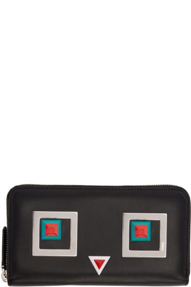 Fendi - Black Square Eyes Wallet