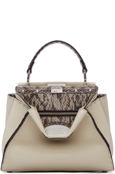 Fendi - Beige Mini Peekaboo Bag
