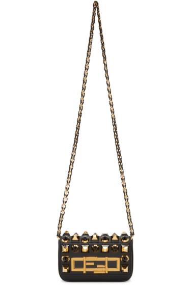 Fendi - Black Mini Baguette Bag