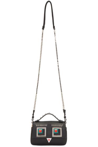 Fendi - Black & Yellow Double Micro Baguette Bag