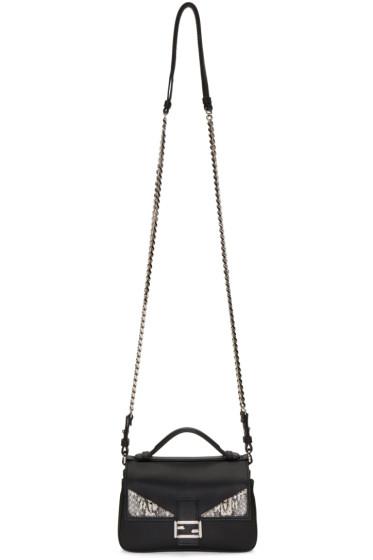 Fendi - Black Double Micro Baguette Bag