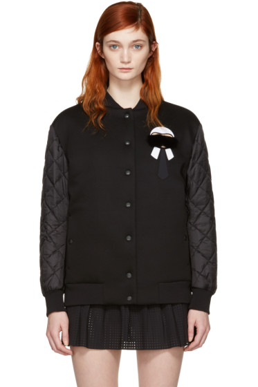 Fendi - Black Down Karlito Bomber Jacket