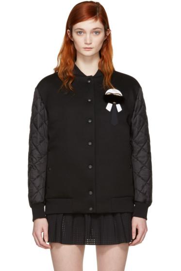 Fendi - Black Down Karlito Bomber Jacket