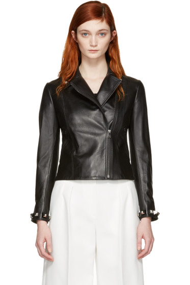 Fendi - Black Leather Studded Jacket
