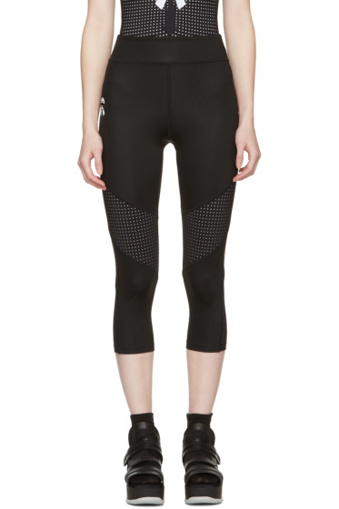Fendi - Black Perforated Karlito Yoga Leggings