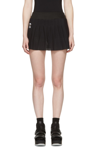 Fendi - Black Perforated Tennis Skirt