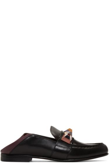 Fendi - Black Rainbow Loafers