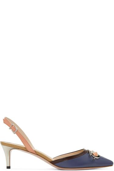 Fendi - Multicolor 'Fendi Faces' Heels