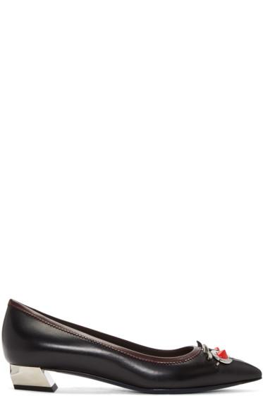 Fendi - Black 'Fendi Faces' Heels