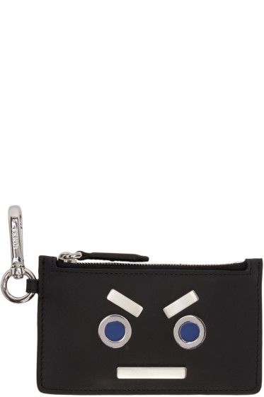 Fendi - Black 'Fendi Faces' Pouch Keychain