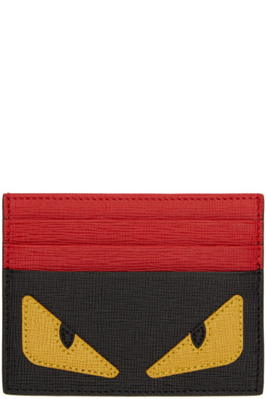 Fendi - Black Bag Bug Card Holder