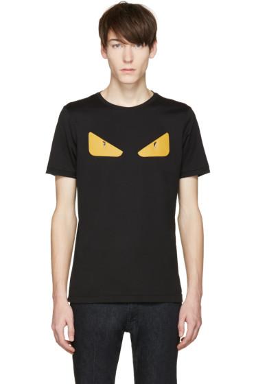 Fendi - Black 'Bag Bug' Basic T-Shirt