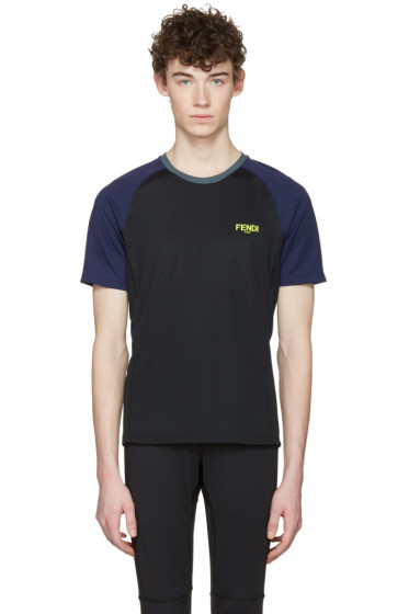 Fendi - Black Activewear Logo T-Shirt