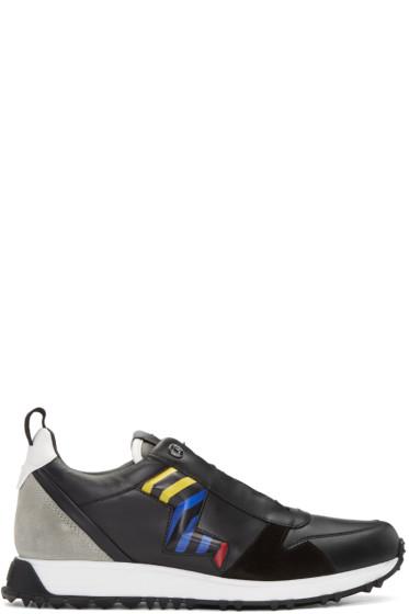 Fendi - Black Zig Zag Bolt Sneakers