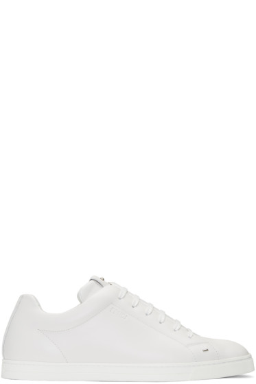 Fendi - White 'Fendi Faces' Sneakers