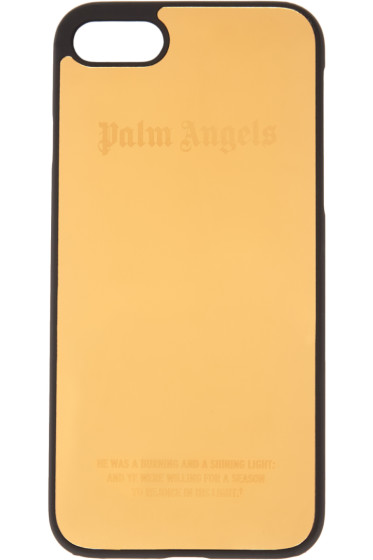 Palm Angels - Gold Logo iPhone 7 Case