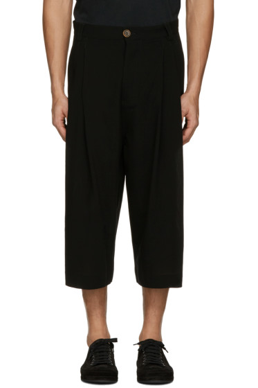 Song for the Mute - Black Wool Bucket Trousers