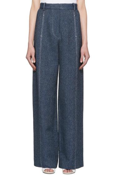 Rosetta Getty - Indigo High-Rise Trousers