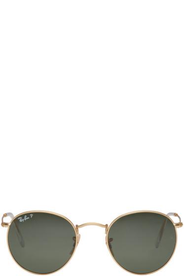 Ray-Ban - Gold Round Sunglasses