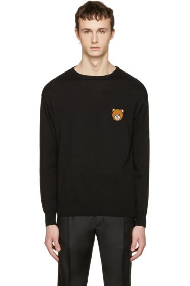 Moschino - Black Cotton Bear Pullover