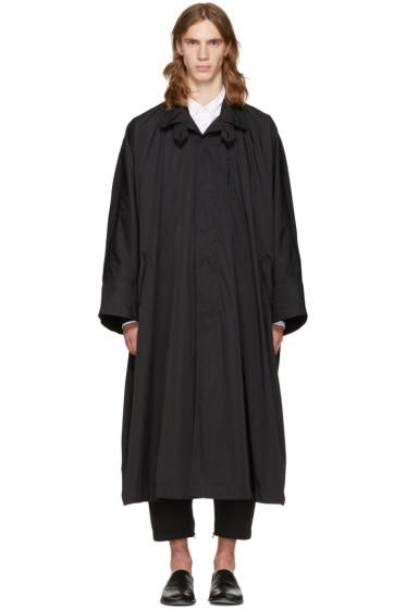 Issey Miyake Men - Black Oversized Trench Coat