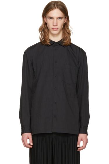 Issey Miyake Men - Black Wrinkled Classic Shirt