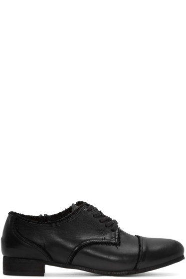 Y's - Black Leather Derbys