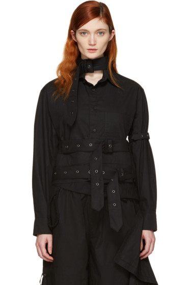 Craig Green - Black Cotton Cropped Shirt