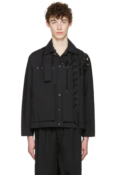 Craig Green - Black Laced Workwear Jacket