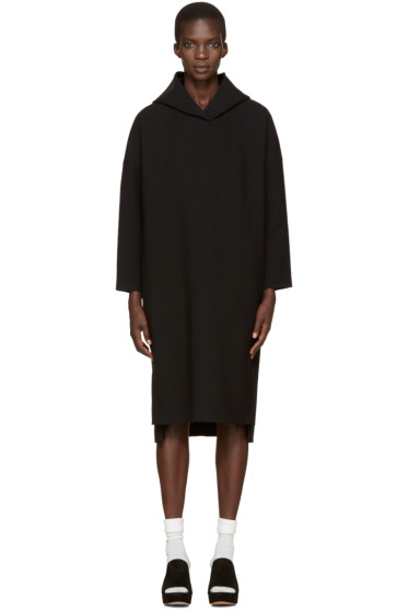 Enfold - Black Hooded Dress