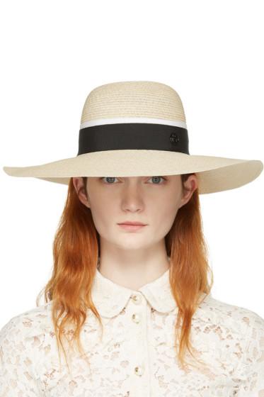 Maison Michel - Beige Straw Blanche Beach Hat