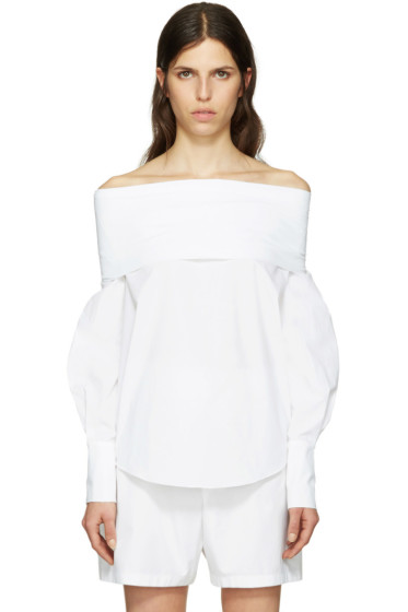 Emilio Pucci - White Off-the-Shoulder Blouse