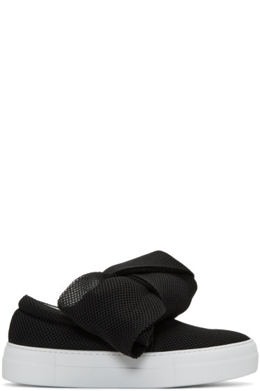 Joshua Sanders - Black Bow Double Slip-On Sneakers