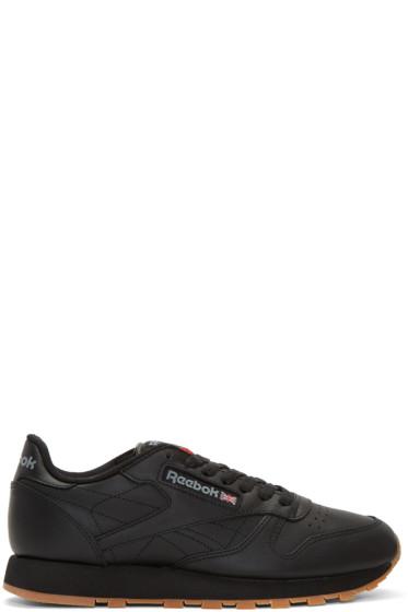 Reebok Classics - Black Leather Classic Sneakers